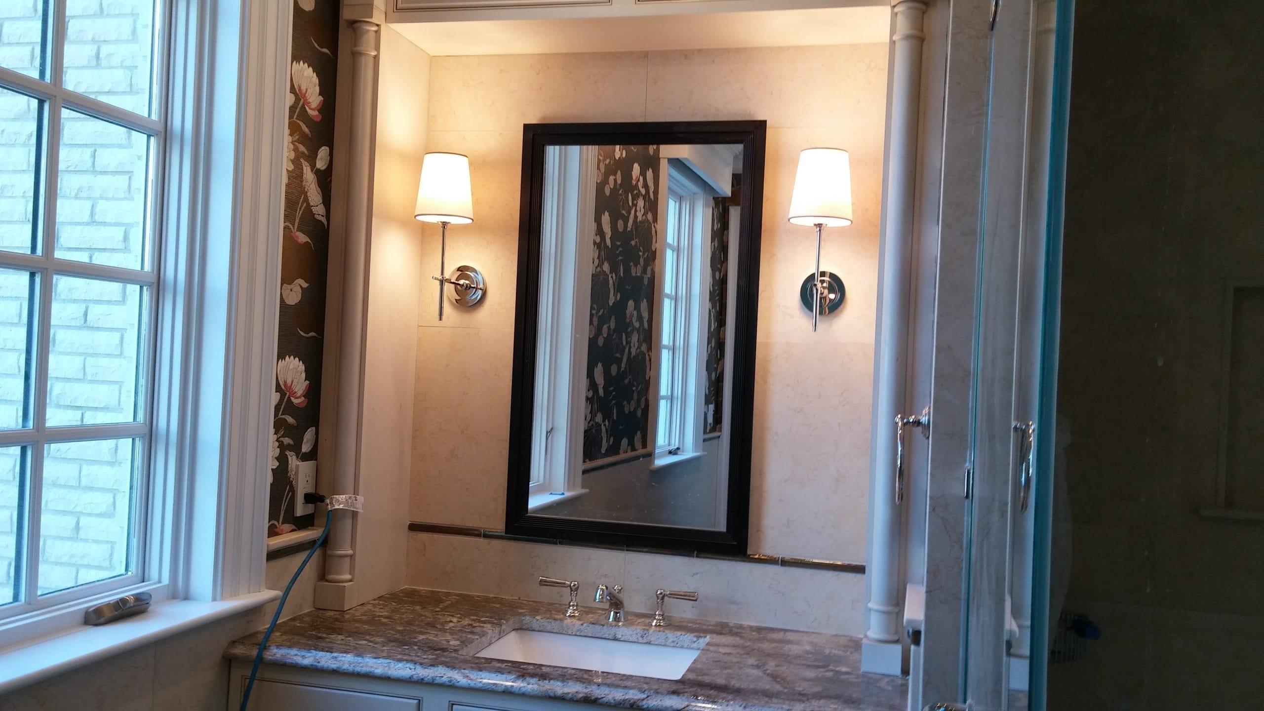 Bathroom Custom Lighting Fixtures & Interior Designer