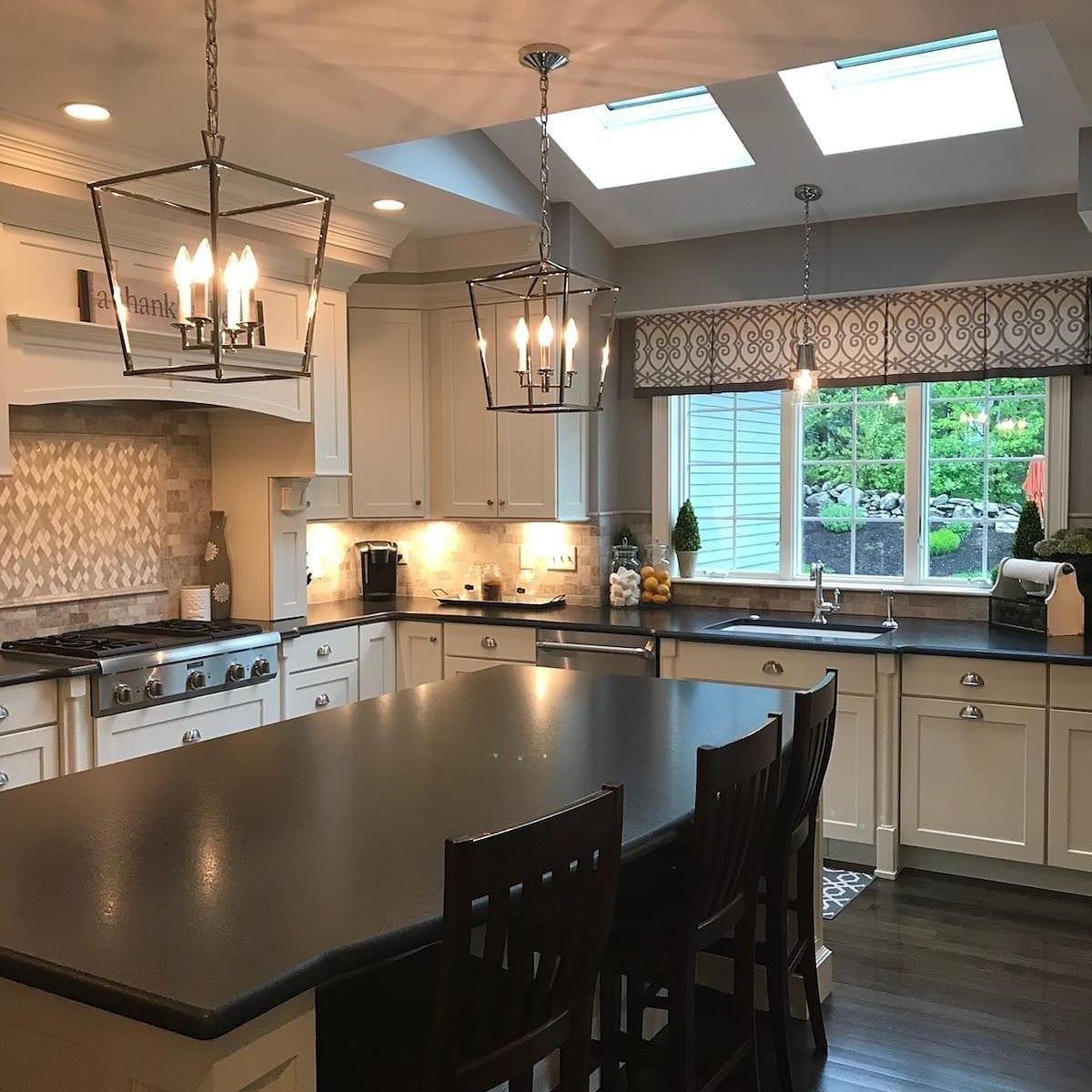 Custom Light Fixture in Kitchen