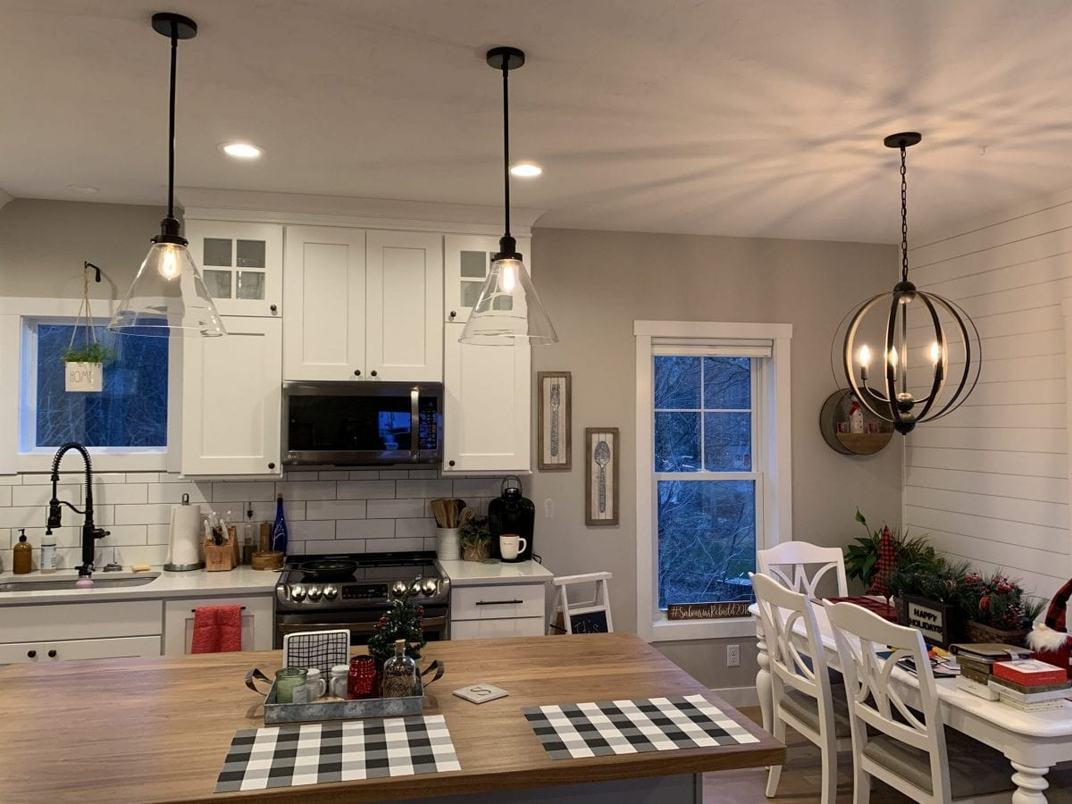 Custom Light Fixtures Kitchen & Dining Room