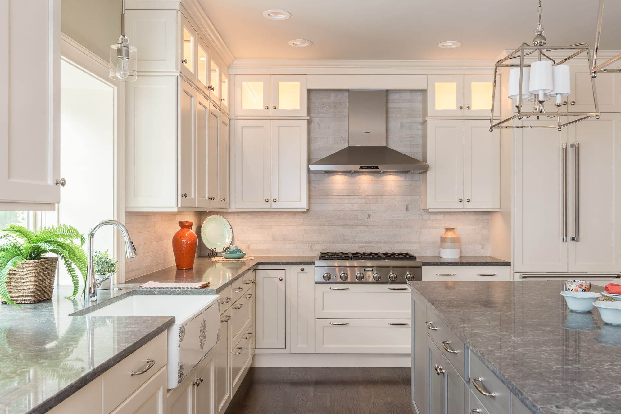 Kitchen Custom Light Fixtures and Interior Design