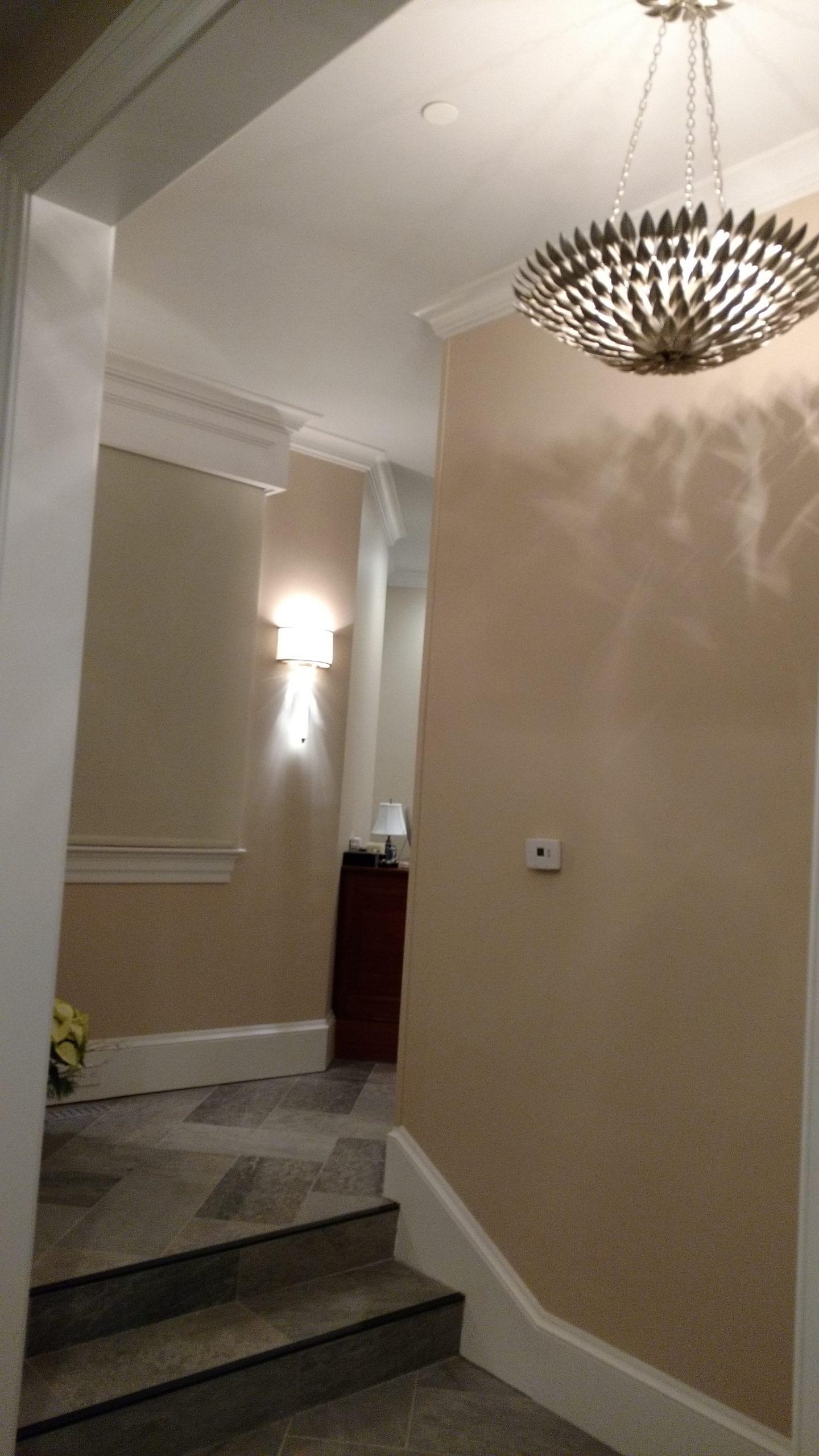 Decorative Lighting Fixture in Foyer