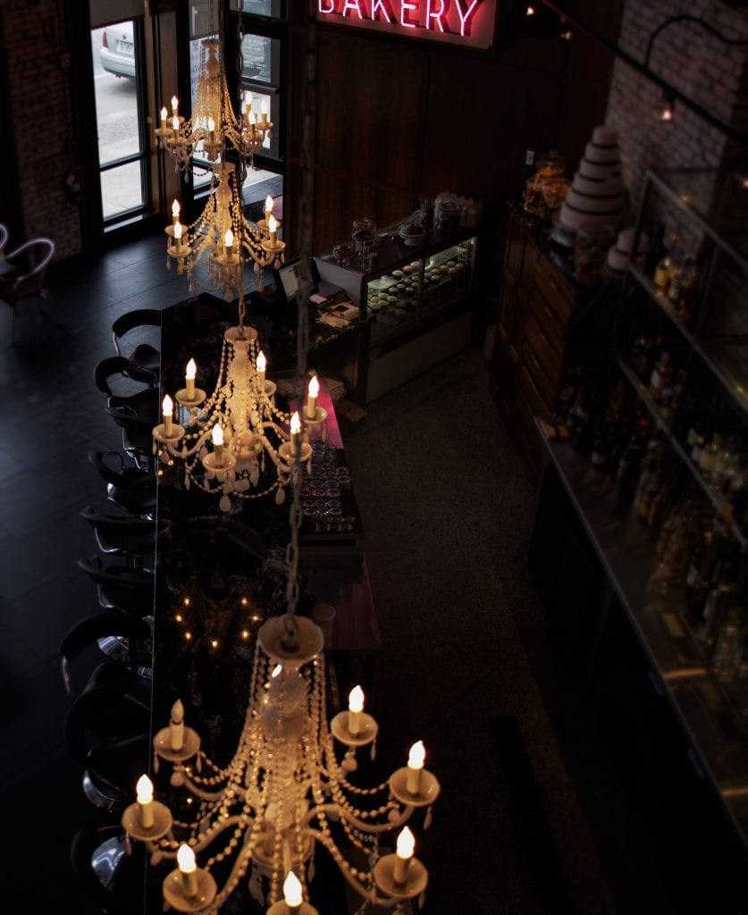 Custom Decorative Lighting   Chandeliers in Bakery
