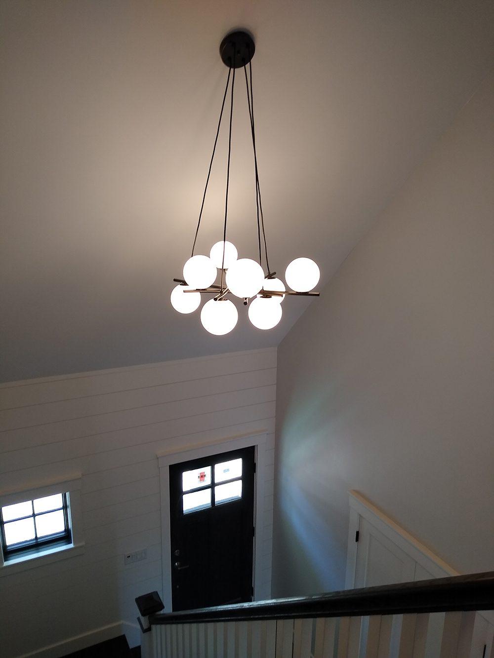 Custom Decorative Lighting Fixtures | Chandelier in Foyer
